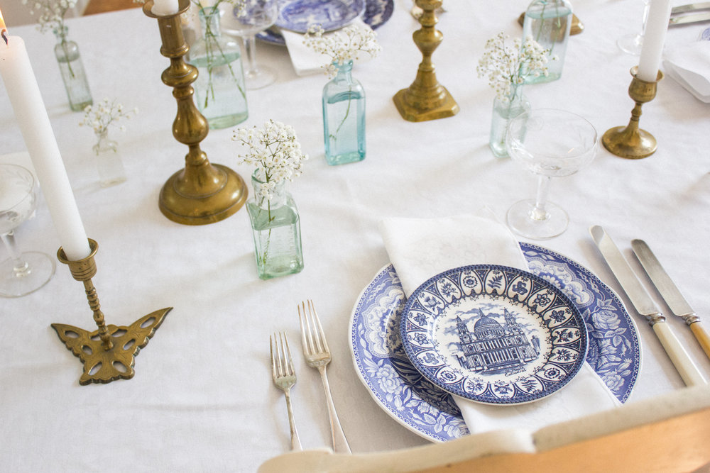 Vintage Amy Wedding Styling and Hiring-Vintage Blue and White China-Vintage Prop and China Hire Kent and East Sussex