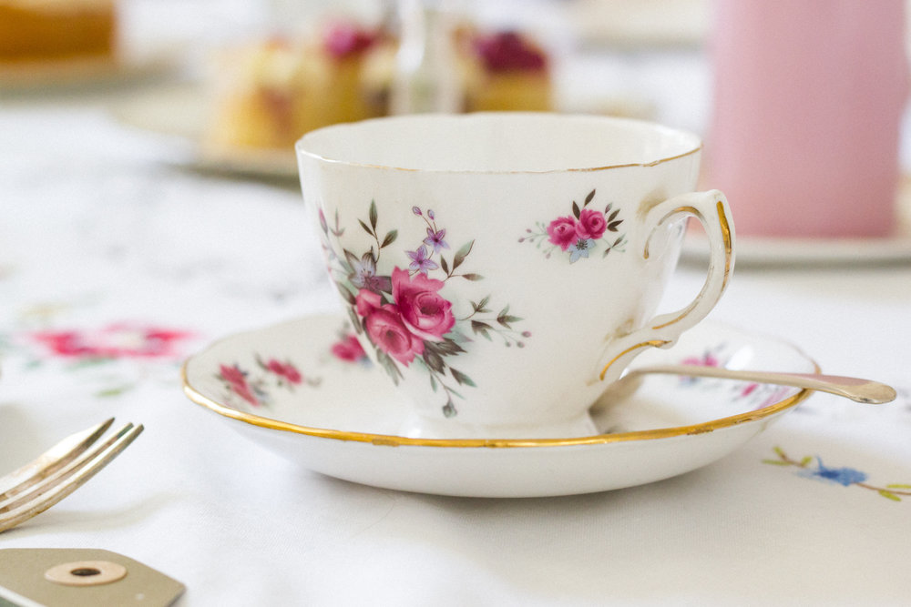Vintage Amy Wedding Styling-Vintage China to Hire South East England-Elegant Vintage Tea Cups