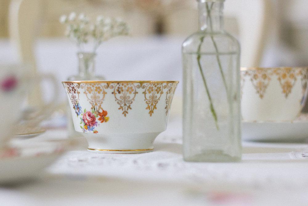 Vintage Amy Wedding Hiring-Vintage China to Hire Kent and Sussex-Elegant Vintage Wedding