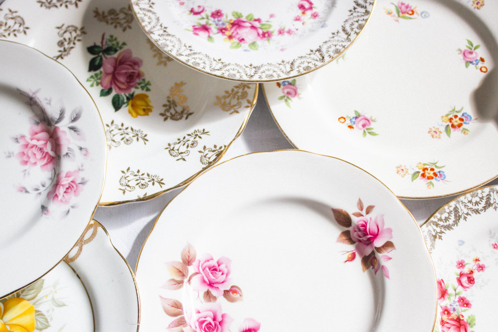 Vintage Amy Wedding China To Hire-Vintage Plates-Elegant Vintage Wedding Kent and Sussex