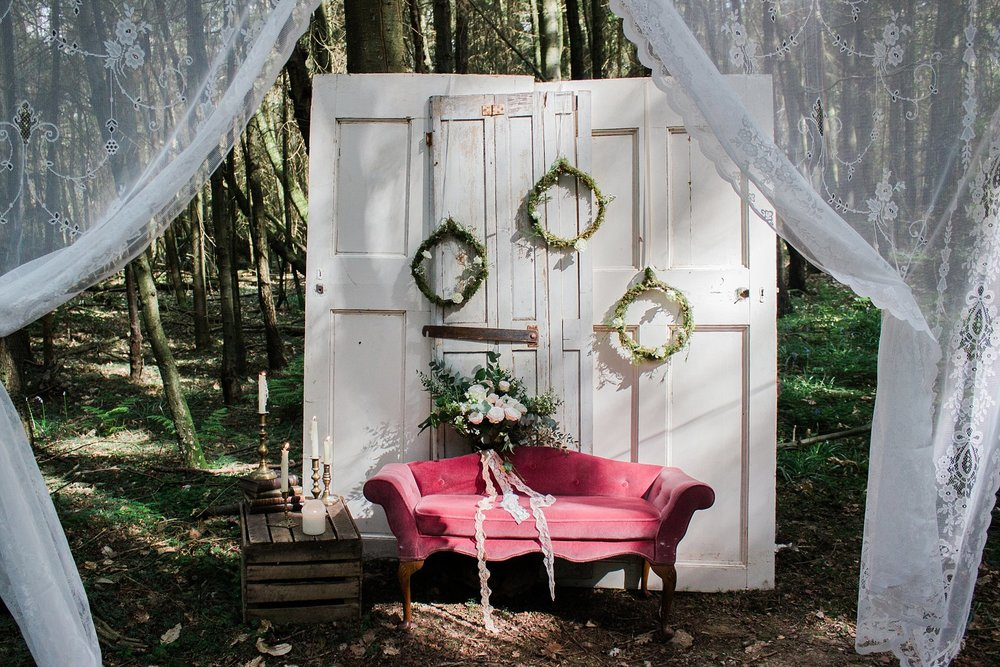 Vintage Amy Wedding Styling-Whimsical Woodland Wedding Kent-Vintage Photobooth Inspiration