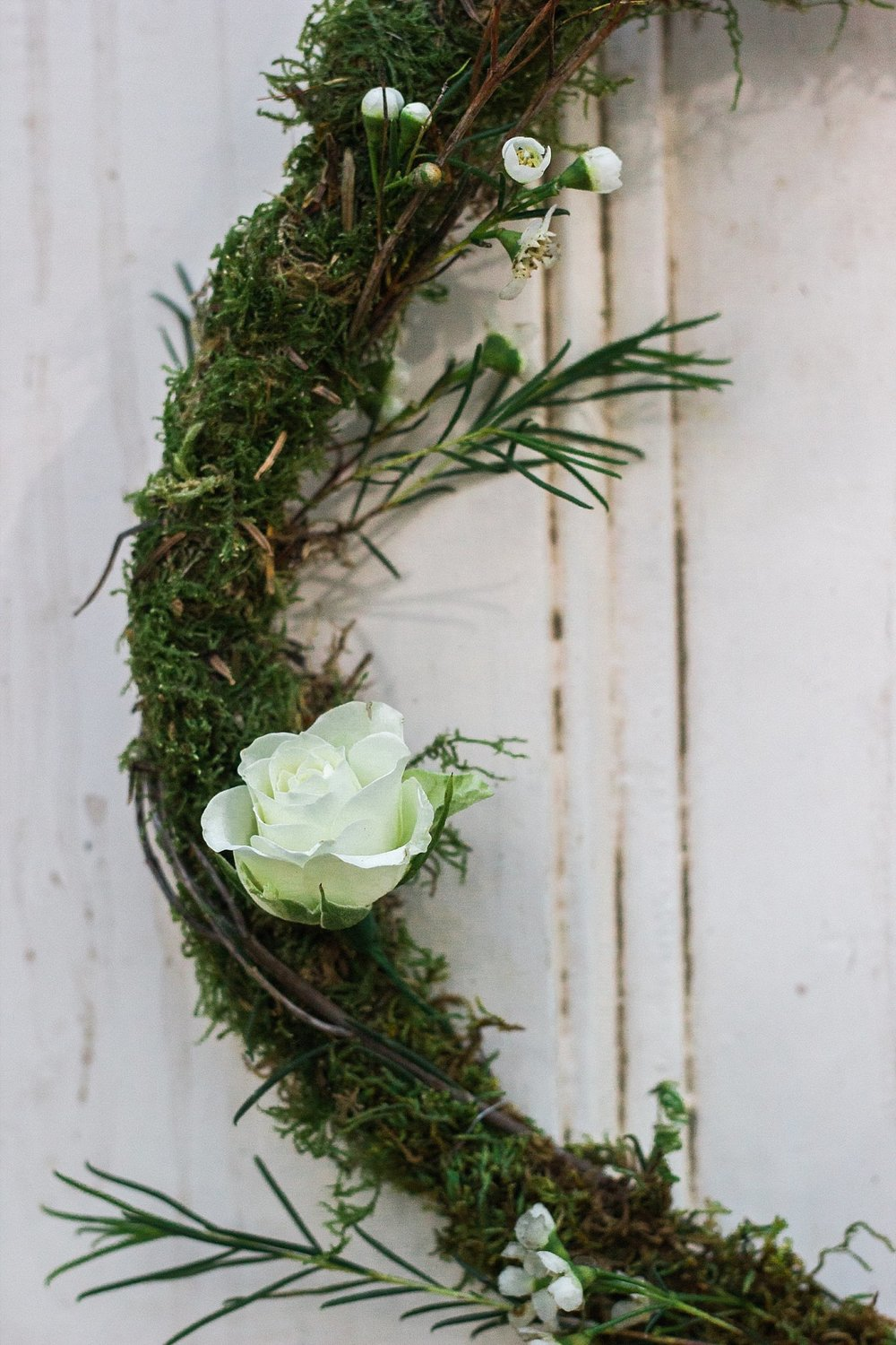 Vintage Amy Wedding Styling-Whimsical Woodland Wedding Inspiration Kent-Vintage Doors with Moss Hoops-Vintage Wedding