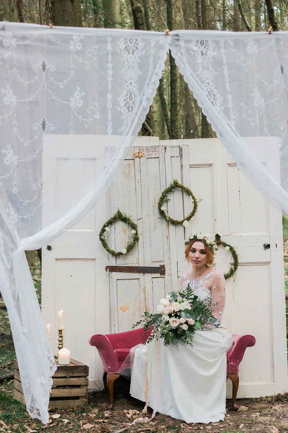 Vintage Amy Wedding Styling-Whimsical Woodland Wedding Inspiration Kent-Vintage Photobooth To Hire