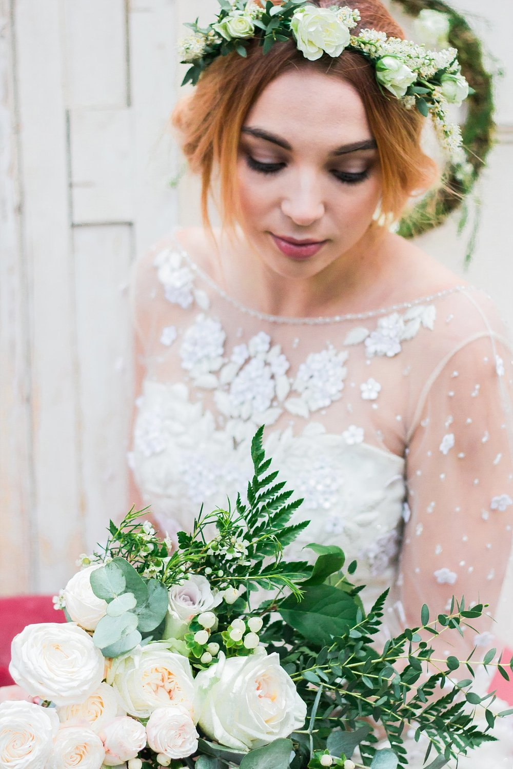 Vintage Amy Wedding Styling-Whimsical Woodland Wedding Inspiration Kent-Vintage Bride-Neutral Flowers