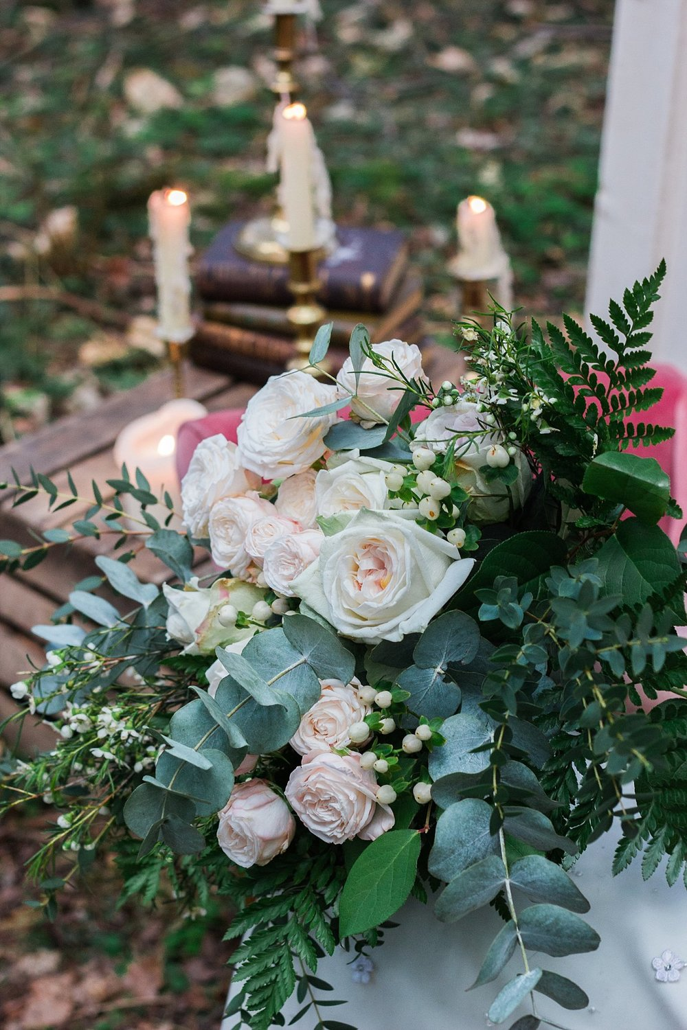 Vintage Amy Wedding Styling-Whimsical Woodland Wedding Inspiration Kent-Vintage Neutral Wedding Bouquet