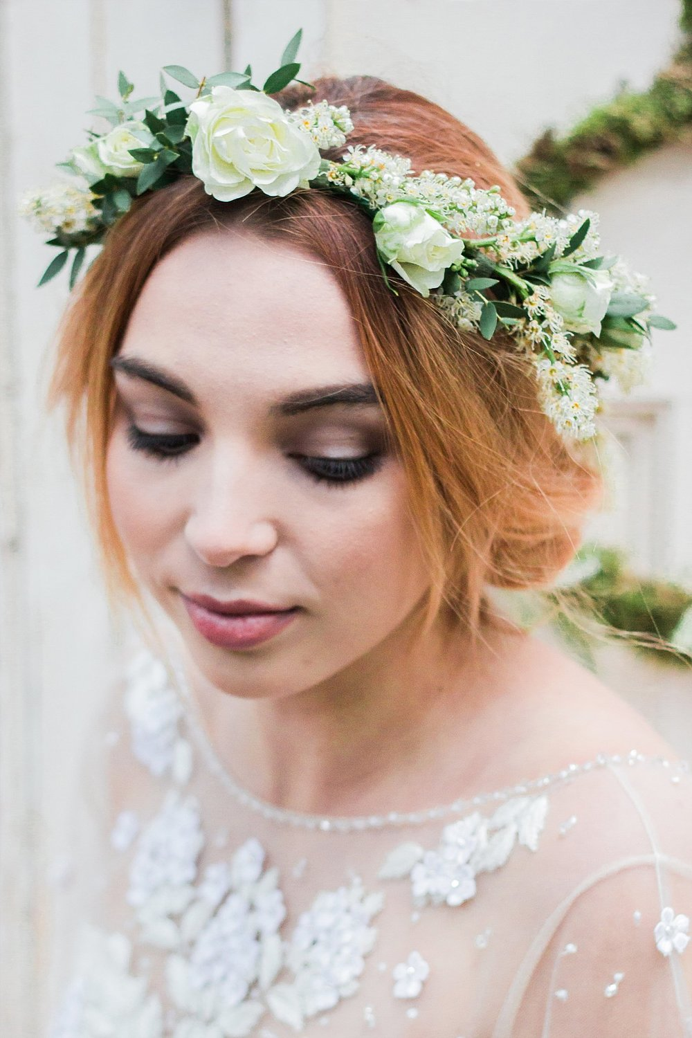 Vintage Amy Wedding Styling-Whimsical Woodland Wedding Inspiration Kent-Vintage Flower Crown