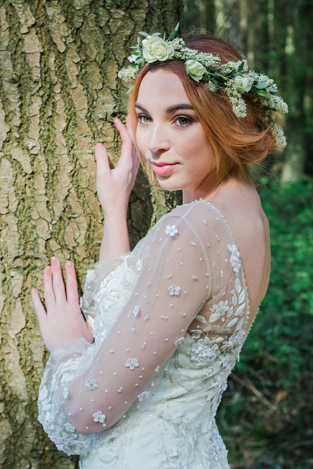 Vintage Amy Wedding Styling-Vintage Whimsical Woodland Wedding Kent-Vintage Bride Jenny Packham Dress
