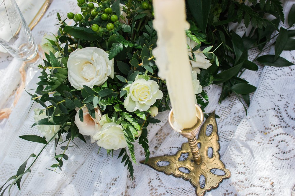 Vintage Amy Wedding Styling-Whimsical Woodland Vintage Wedding Kent-Vintage Brass Candlesticks Hire Kent