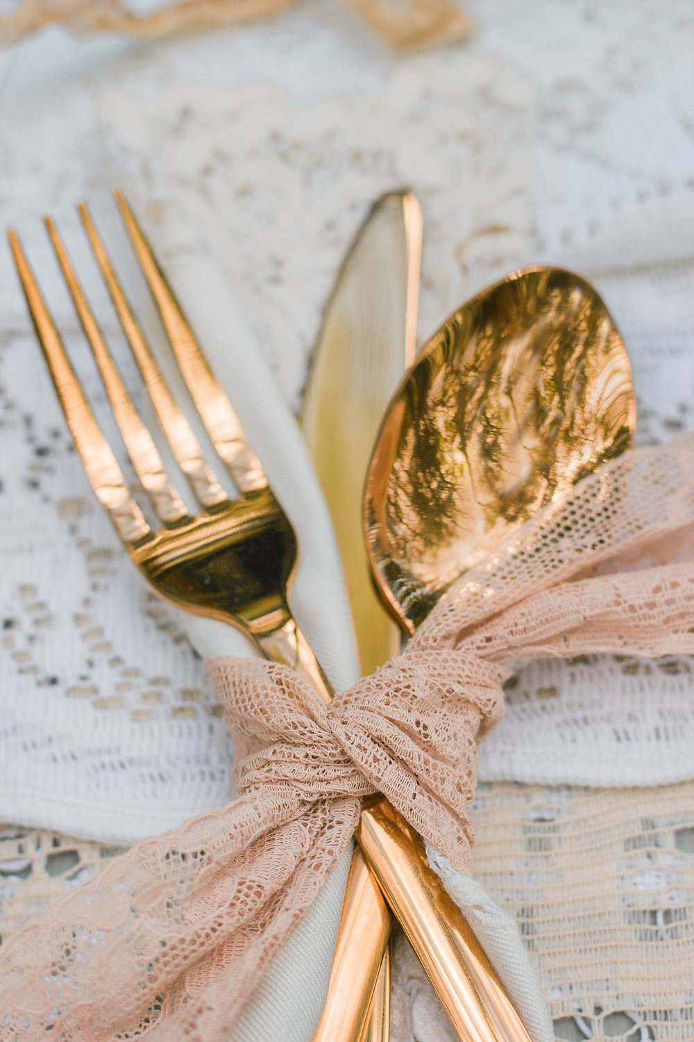 Vintage Amy Wedding Styling-Whimsical Woodland Vintage Wedding Kent-Vintage Gold Cutlery Wedding