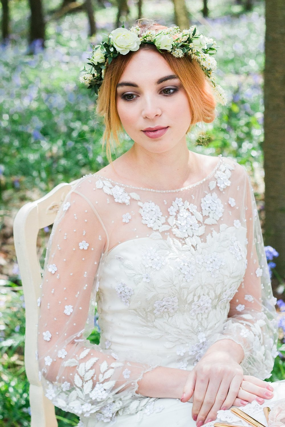 Vintage Amy Wedding Styling-Whimsical Woodland Wedding Kent-Vintage Bride Jenny Packham