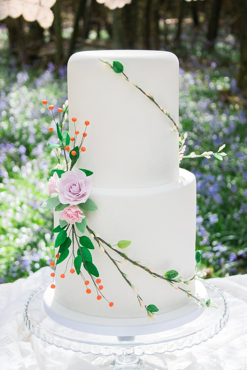 Vintage Amy Wedding Styling-Whimsical Woodland Wedding Kent-Vintage Woodland Wedding Cake