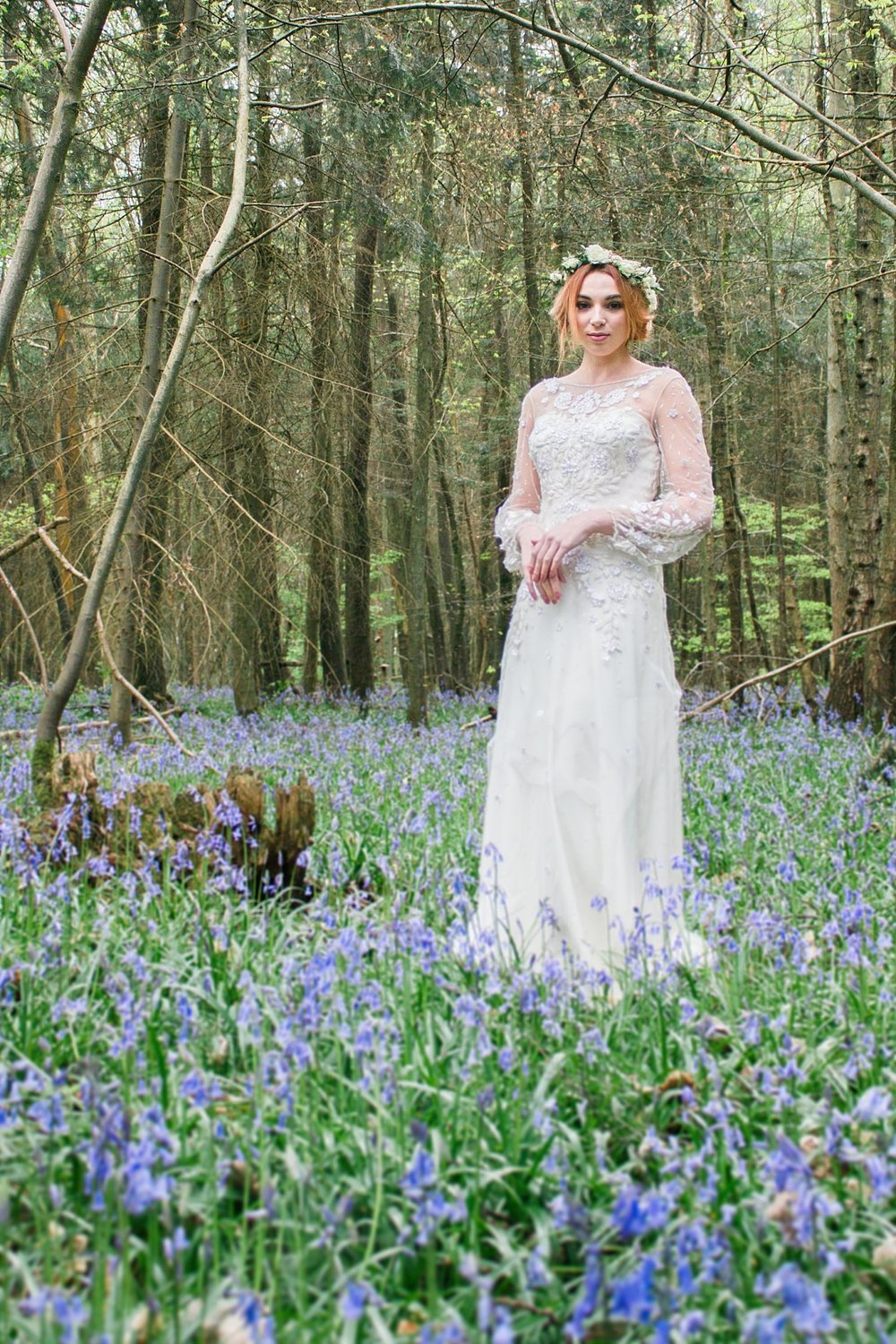 Vintage Amy Wedding Styling-Whimsical Vintage Woodland Wedding Kent-Jenny Packham