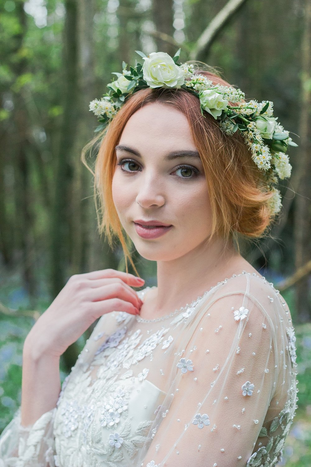 Vintage Amy Wedding Styling-Whimsical Woodland Vintage Wedding Kent-Whimsical Flower Crown