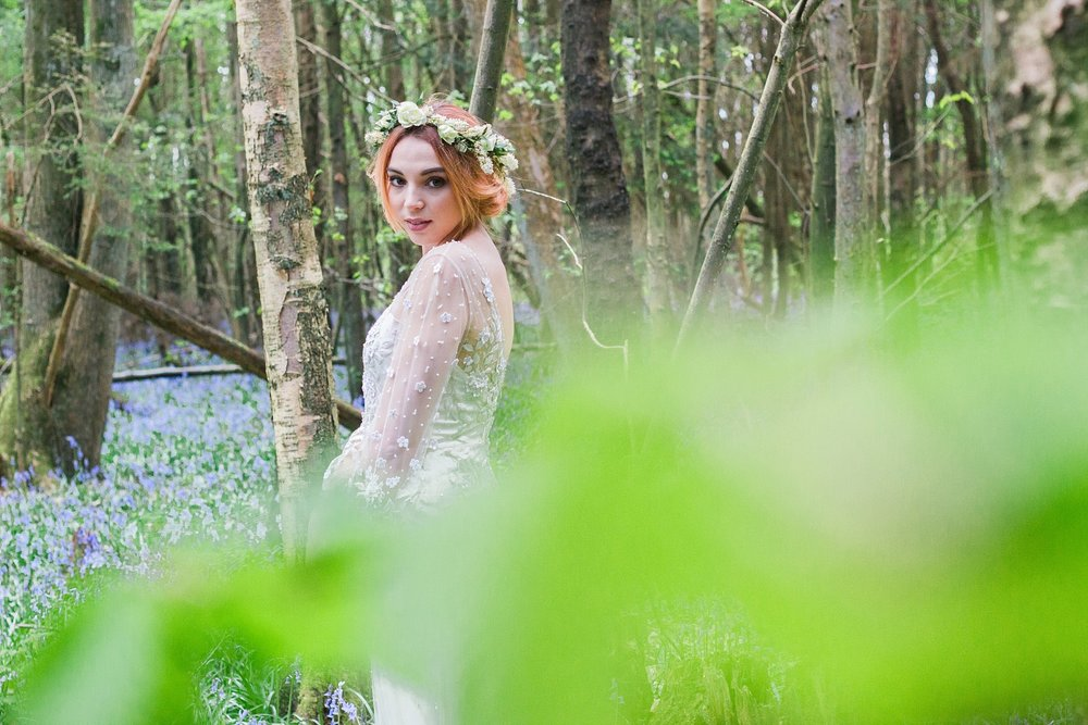 Vintage Amy Wedding Styling-Whimsical Woodland Vintage Wedding Kent-Jenny Packham