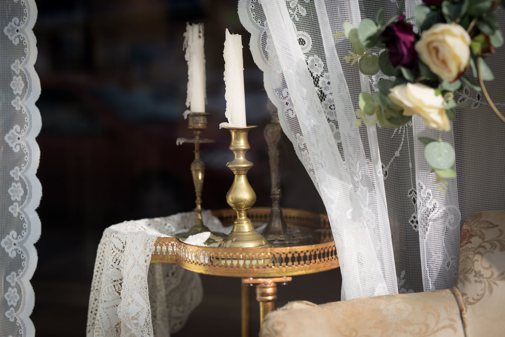Vintage Amy Styling-Window Dressing Wedding Boutique Tunbridge Wells-Lace and Gold