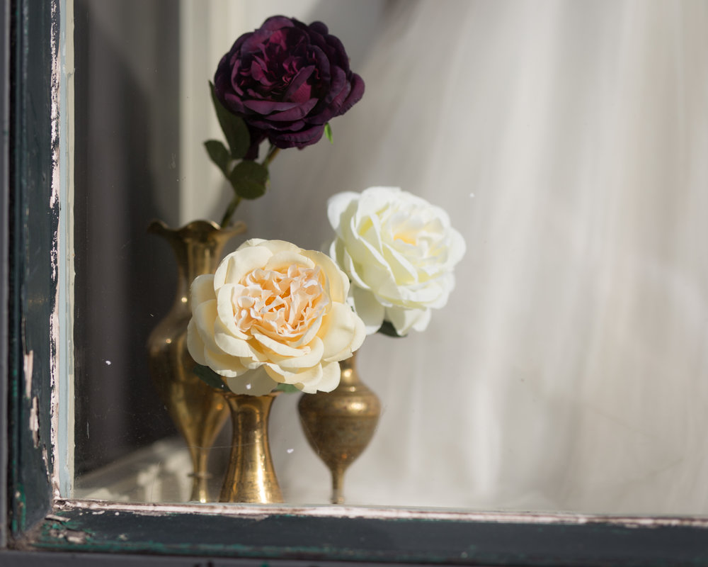 Vintage Amy Wedding Styling-Prop Hire Kent-Vintage Brass Vases-Silk Flowers