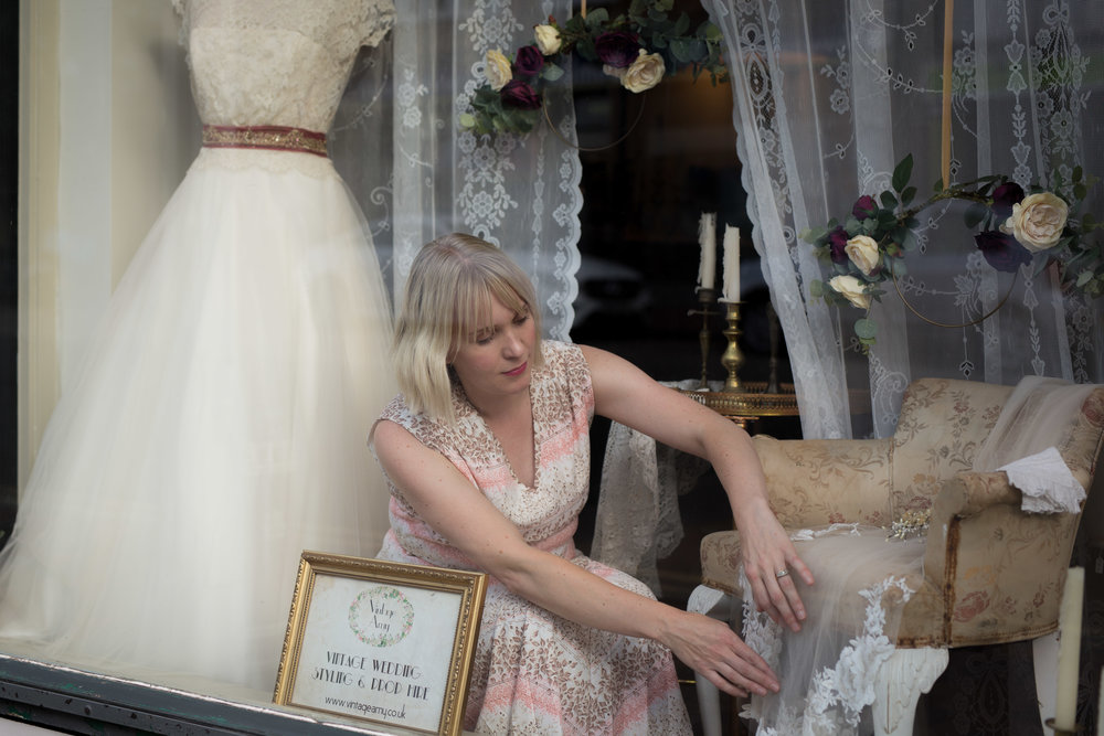 Vintage Amy Window Dressing-Bridal Boutique Kent-Elegant Vintage Props