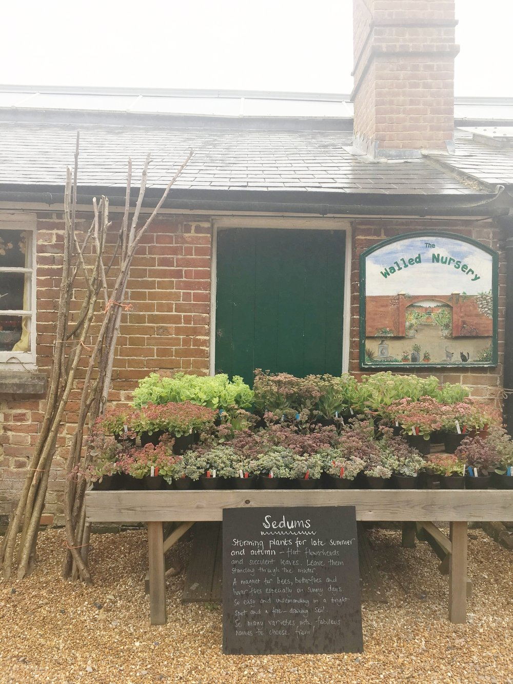 The  Walled Nursery  near Hawkhurst in Kent is definitely worth a visit if you are ever nearby. It is beautiful to potter around and also offers yummy lunches using local delicacies.