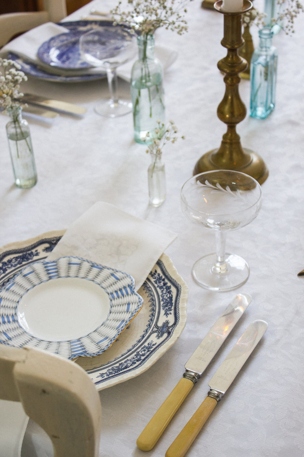 Vintage Amy Styling Tips-Vintage China Hire Kent-Vintage Blue and White Plates