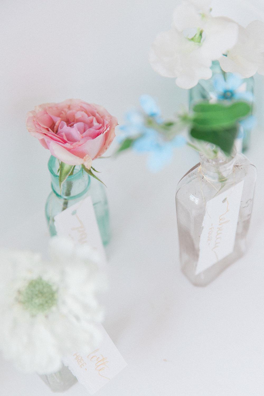 Vintage Amy Wedding Styling-Vintage Medicine Bottle Table Plan-Elegant Vintage Wedding London