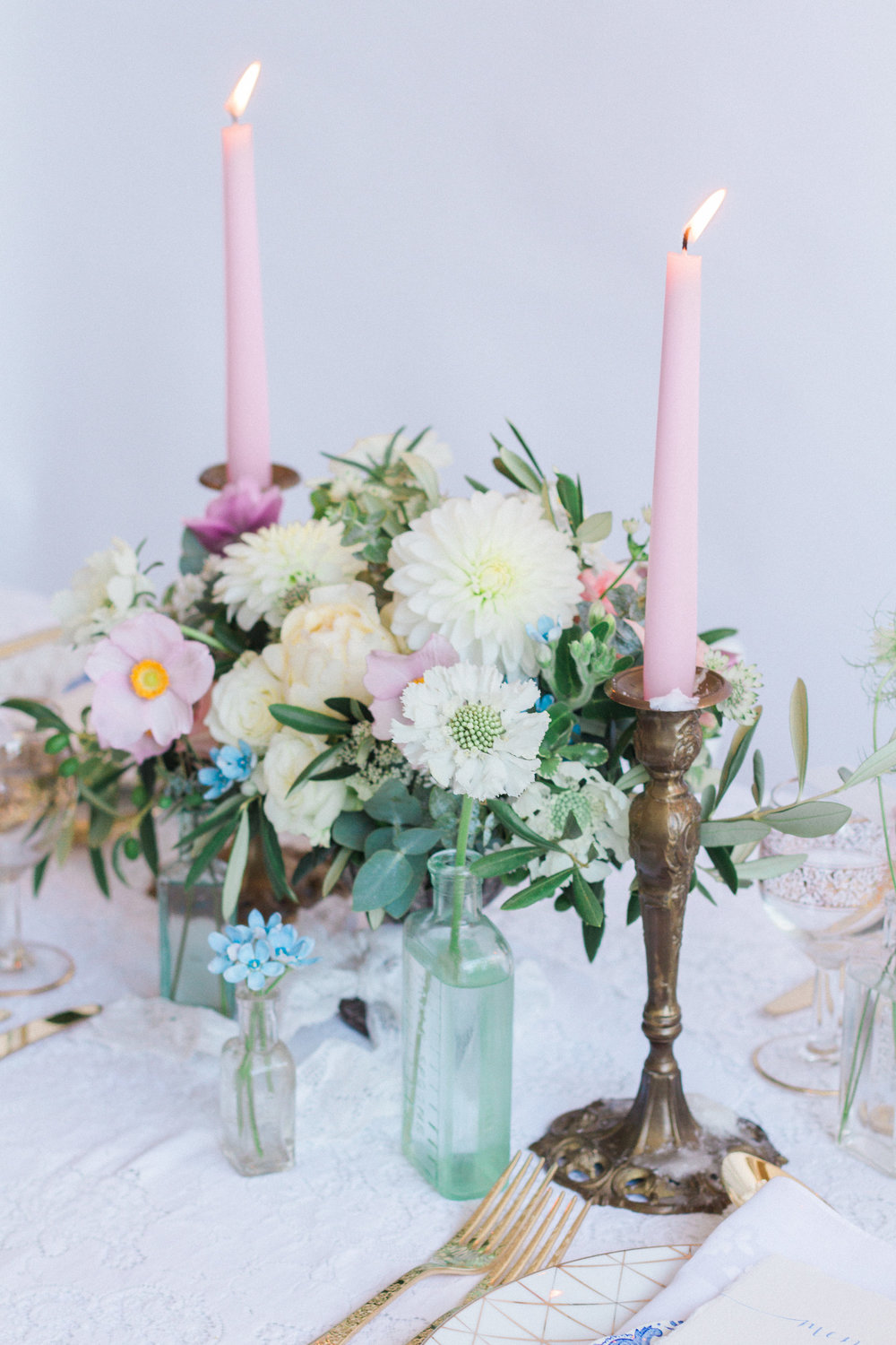 Vintage Amy Wedding Styling-Beautiful Romantic Vintage Wedding Table-Kent and London