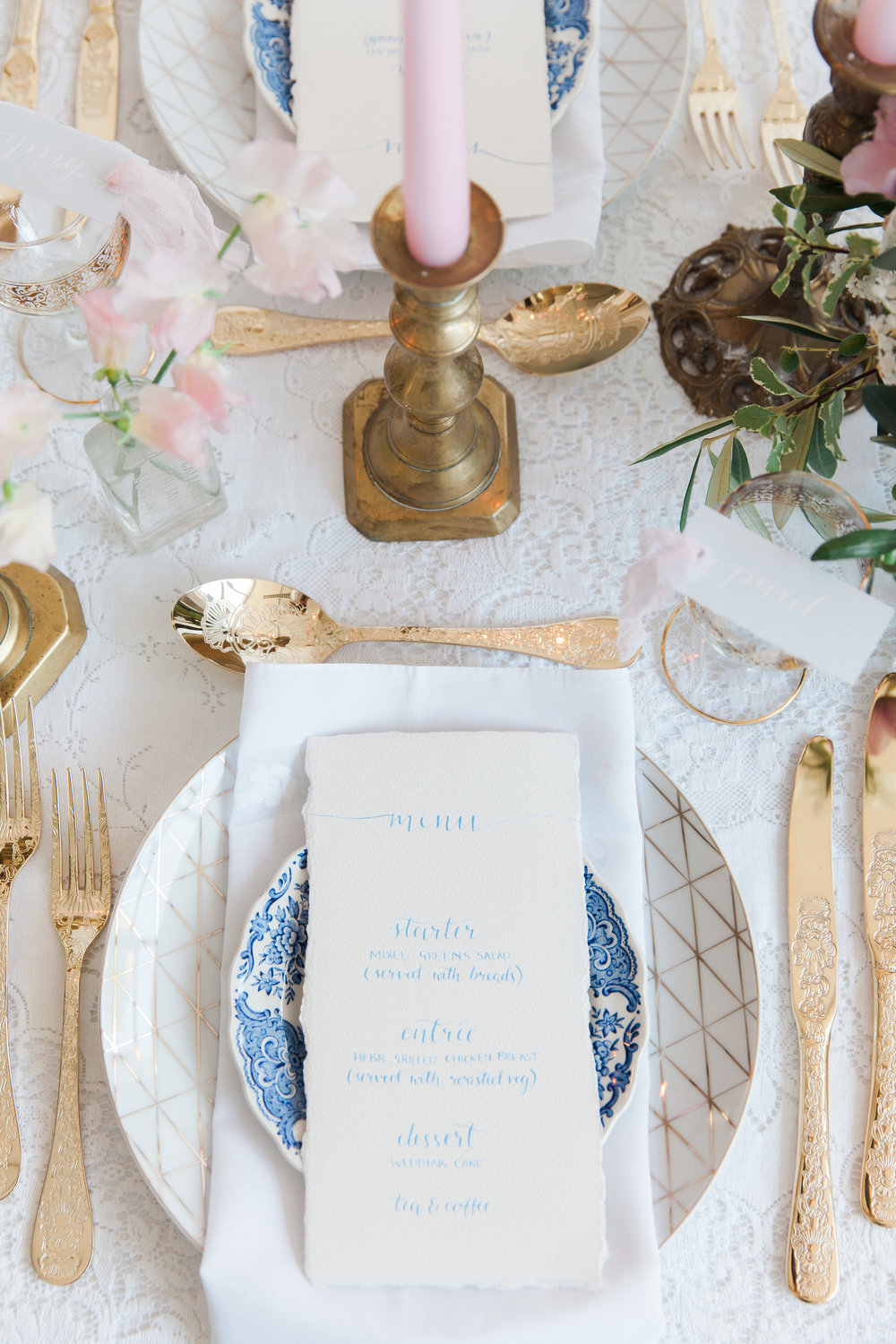Vintage Amy Wedding Styling-Modern Vintage Place Setting-London Wedding