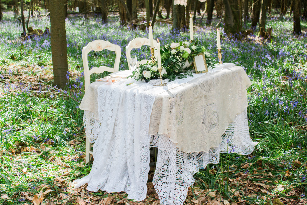 Vintage Amy Wedding Styling-Romantic Woodland Wedding Kent-Vintage Lace