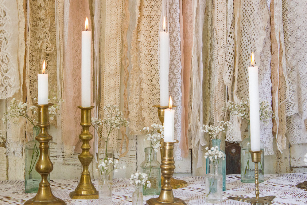 Vintage Amy Wedding Styling-Wedding Prop Hire Kent-Vintage Brass Candlesticks