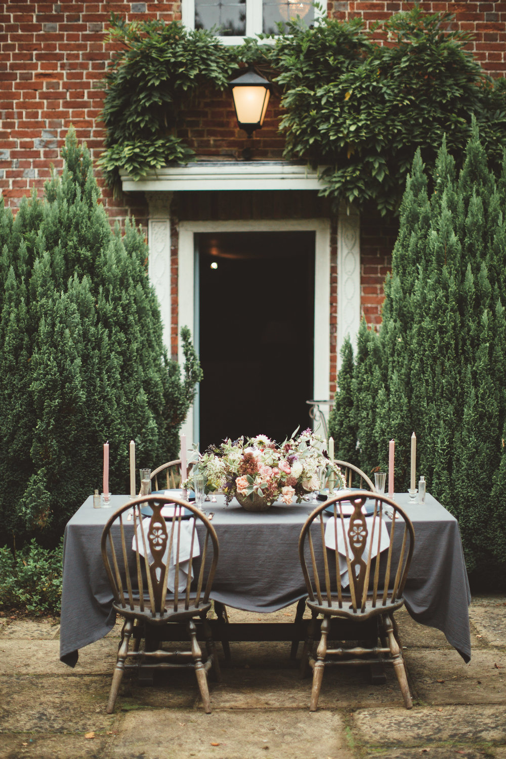 Vintage Amy Wedding Styling-Modern Rustic Luxe Vintage Wedding Tablescape-Outdoor Wedding Kent