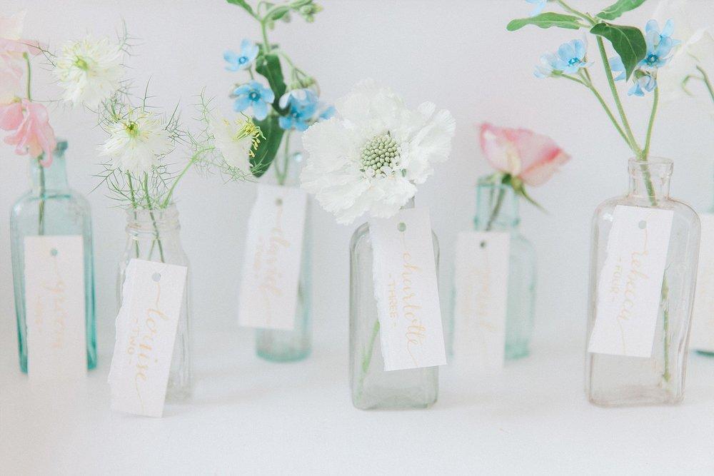 Vintage Amy Styling-On The Day Wedding Stationery-Vintage Medicine Bottle Table Plan