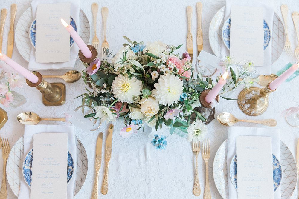 Vintage Amy Wedding Styling-Wedding Tablescape-Calligraphy Menus