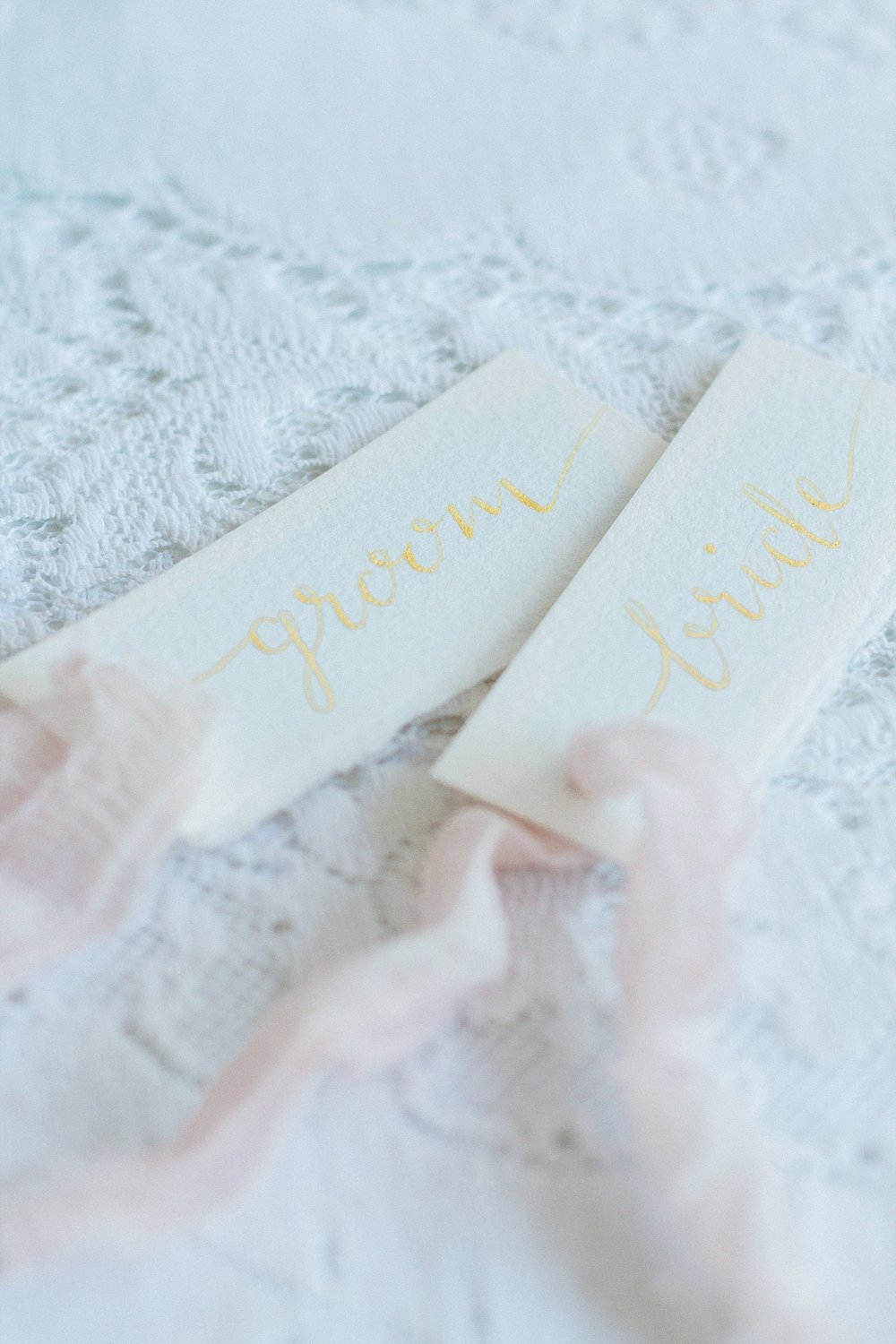 Vintage Amy Wedding Styling-Soft and Dreamy Wedding-Calligraphy Place Settings