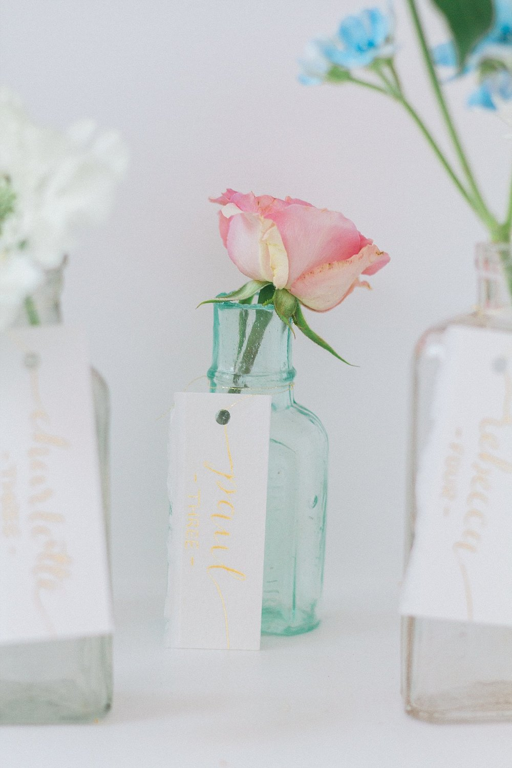 Vintage Amy Wedding Styling-Soft and Dreamy Wedding Styling-Vintage Medicine Bottles Table Plan