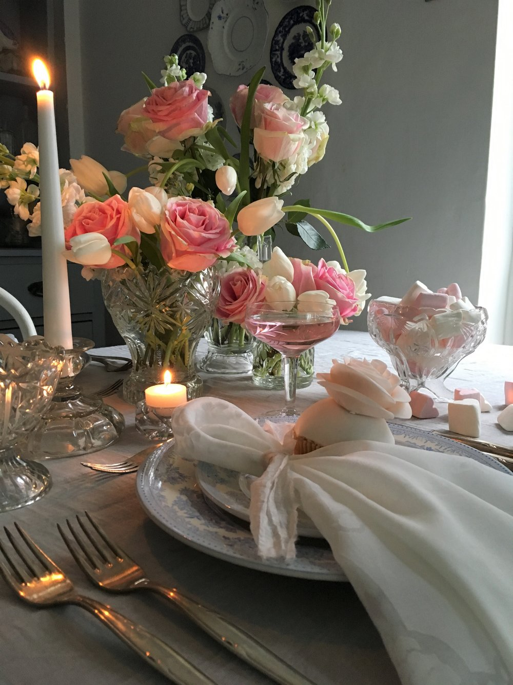 Vintage Amy Styling- Valentines Tablescape-Romantic and Elegant Wedding Styling