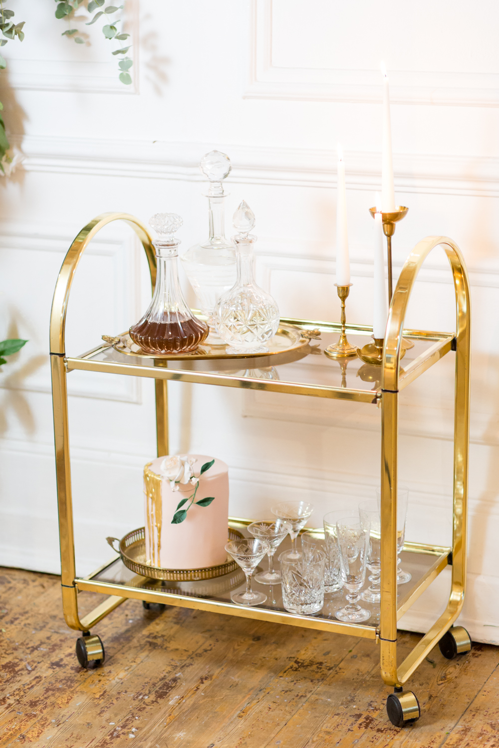 Brass & Glass Trolley: £35