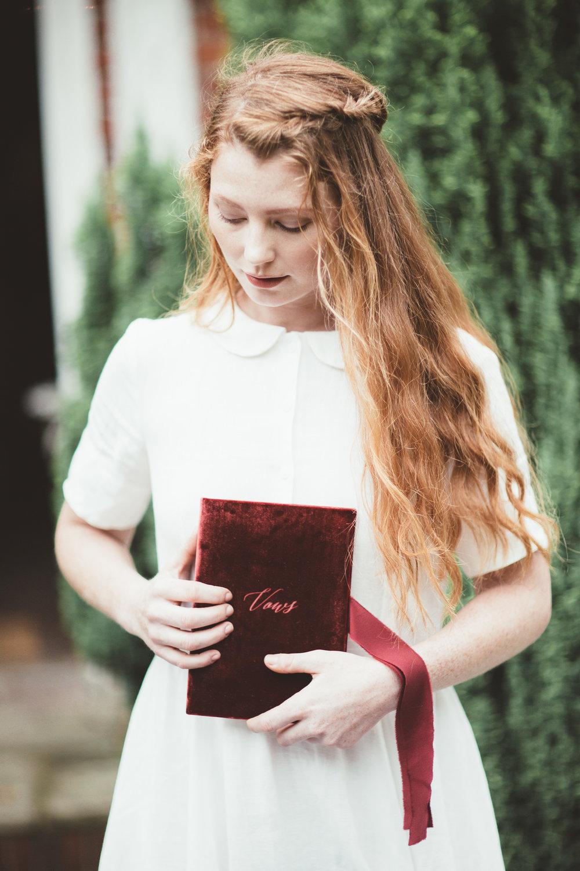 The Timeless Stylist-Vow Books-Elegant Wedding Styling UK