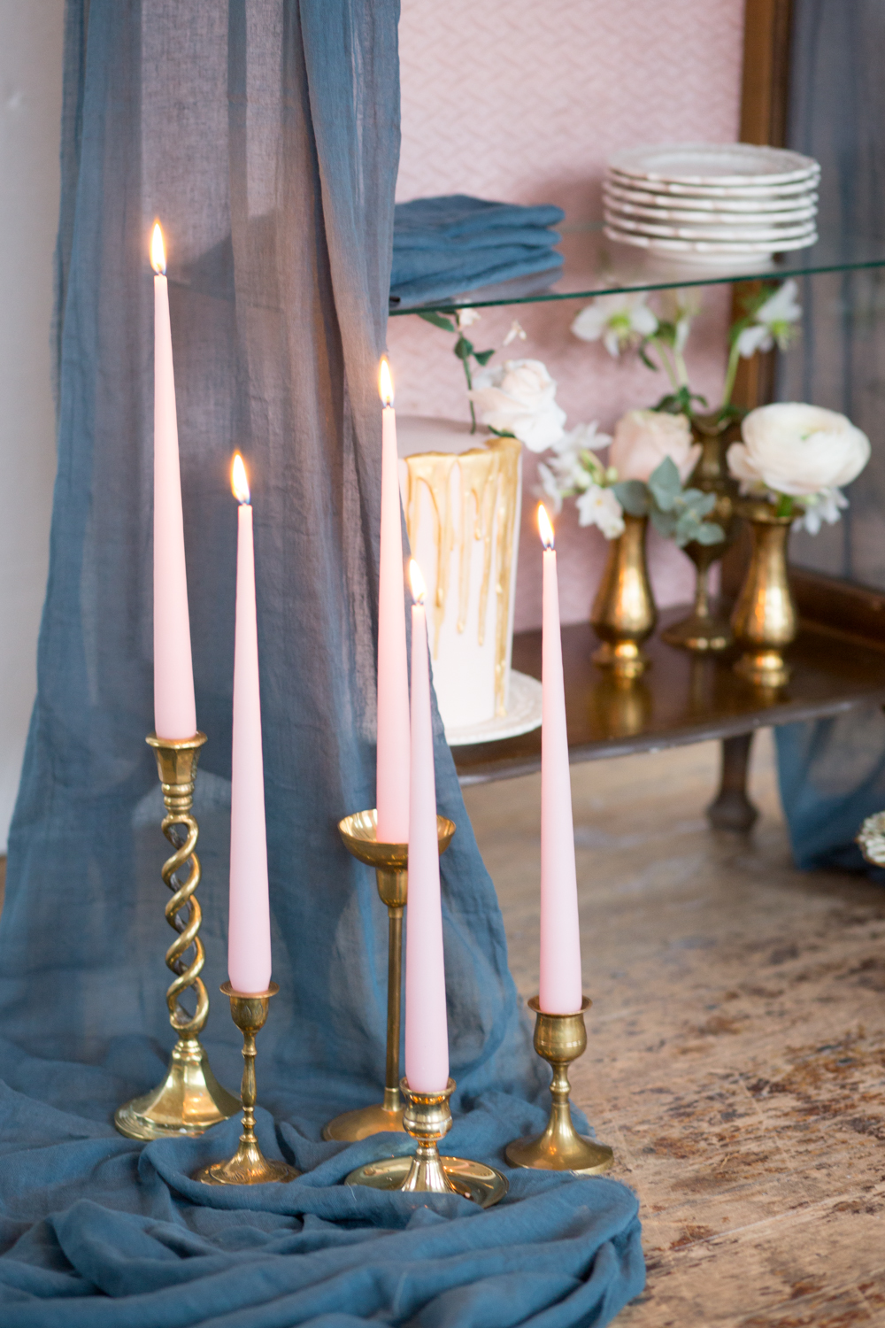 The Timeless Stylist - Brass Candlesticks to Hire