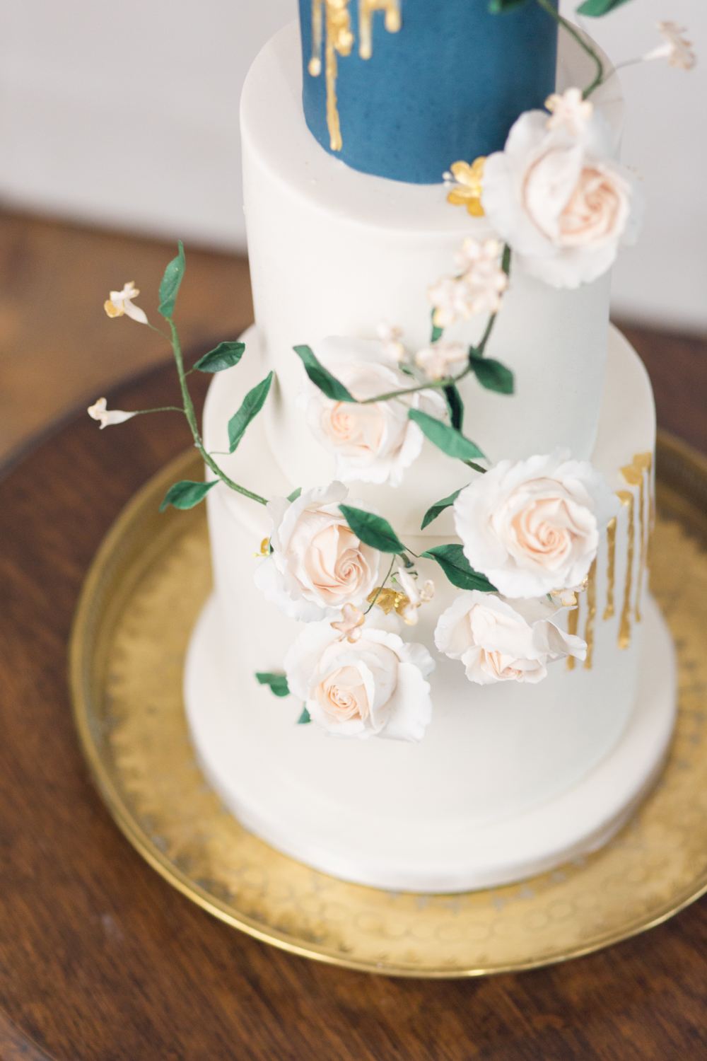 The Timeless Stylist - Wedding Cake on Brass Tray