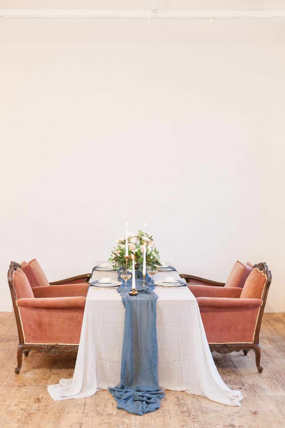 The Timeless Stylist - Vintage Armchairs Wedding Tables