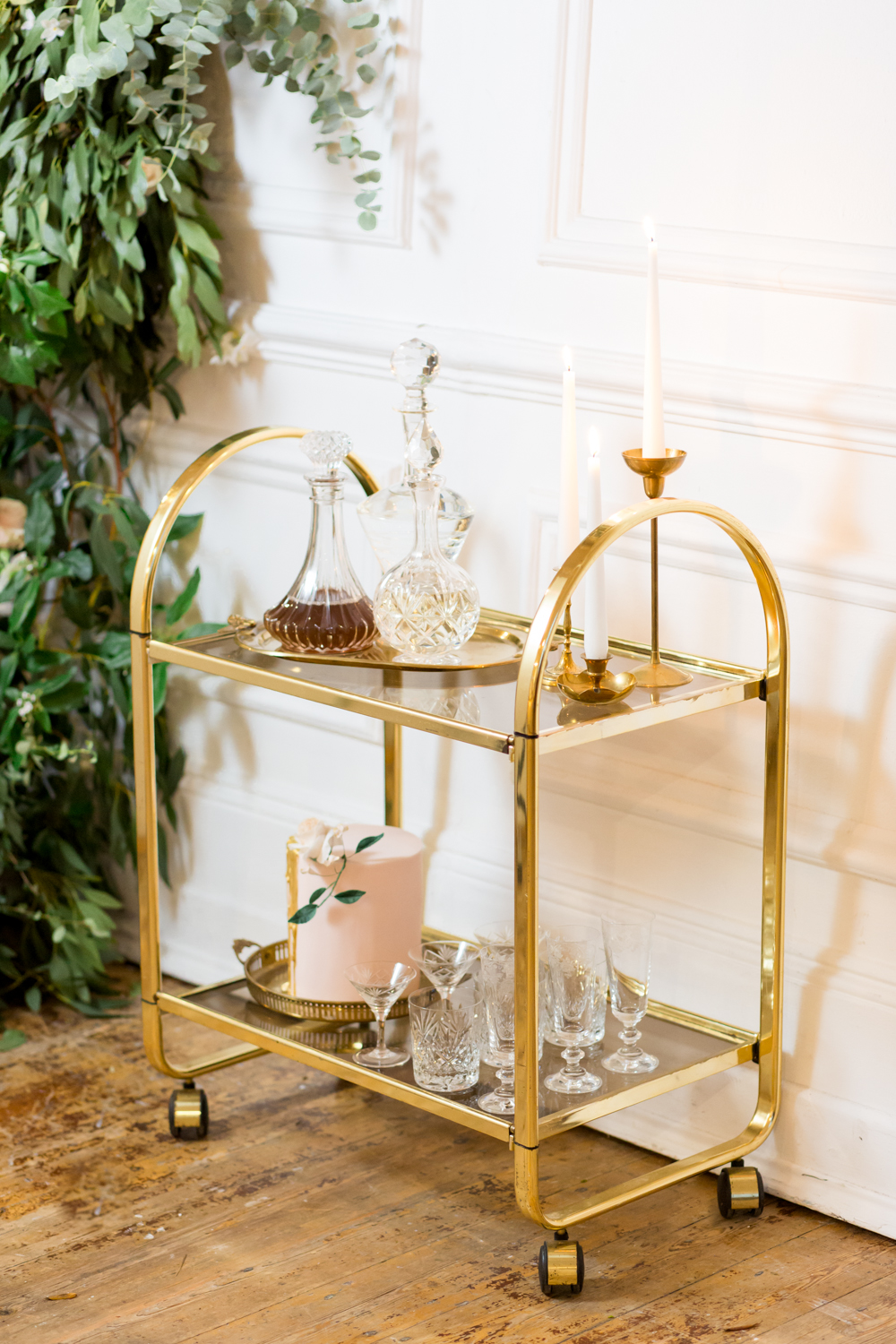 The Timeless Stylist - Wedding Bar Cart