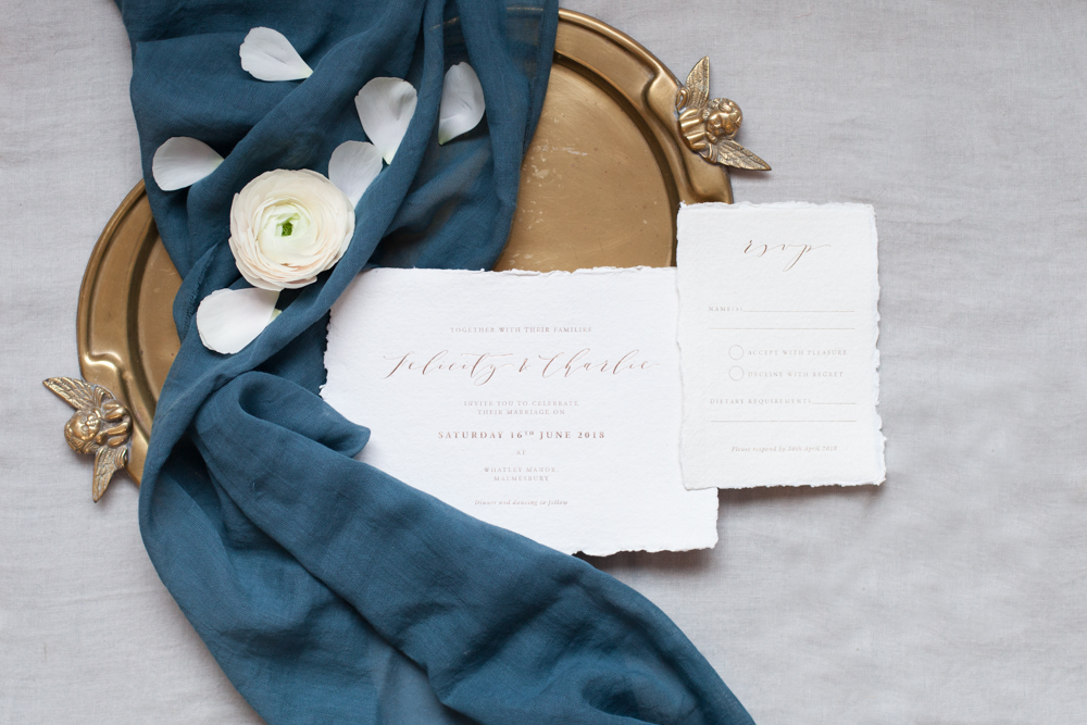 Stunning calligraphy stationery by Lilac & White
