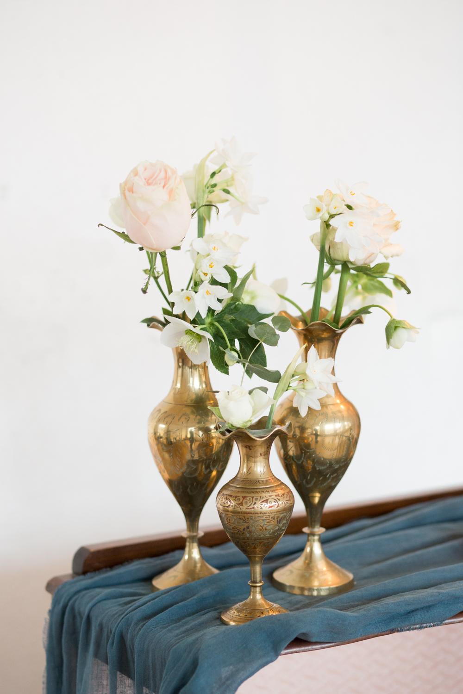 The Timeless Stylist-UK Wedding Styling-Elegant Wedding-Wedding Flowers-Brass Heirloom Vases Prop Hire Kent