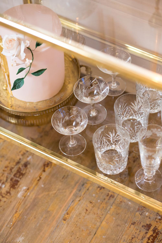 The Timeless Stylist-UK Wedding Styling-Elegant Wedding-Wedding Cocktail Trolley