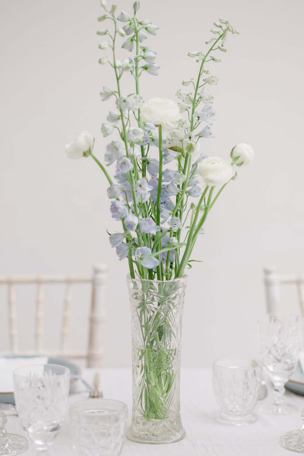 The Timeless Stylist - Cut Glass Wedding Vases