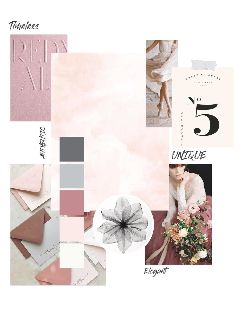 The Timeless Stylist-Branding Moodboard-UK Wedding Styling-Romantic and Elegant Wedding Design