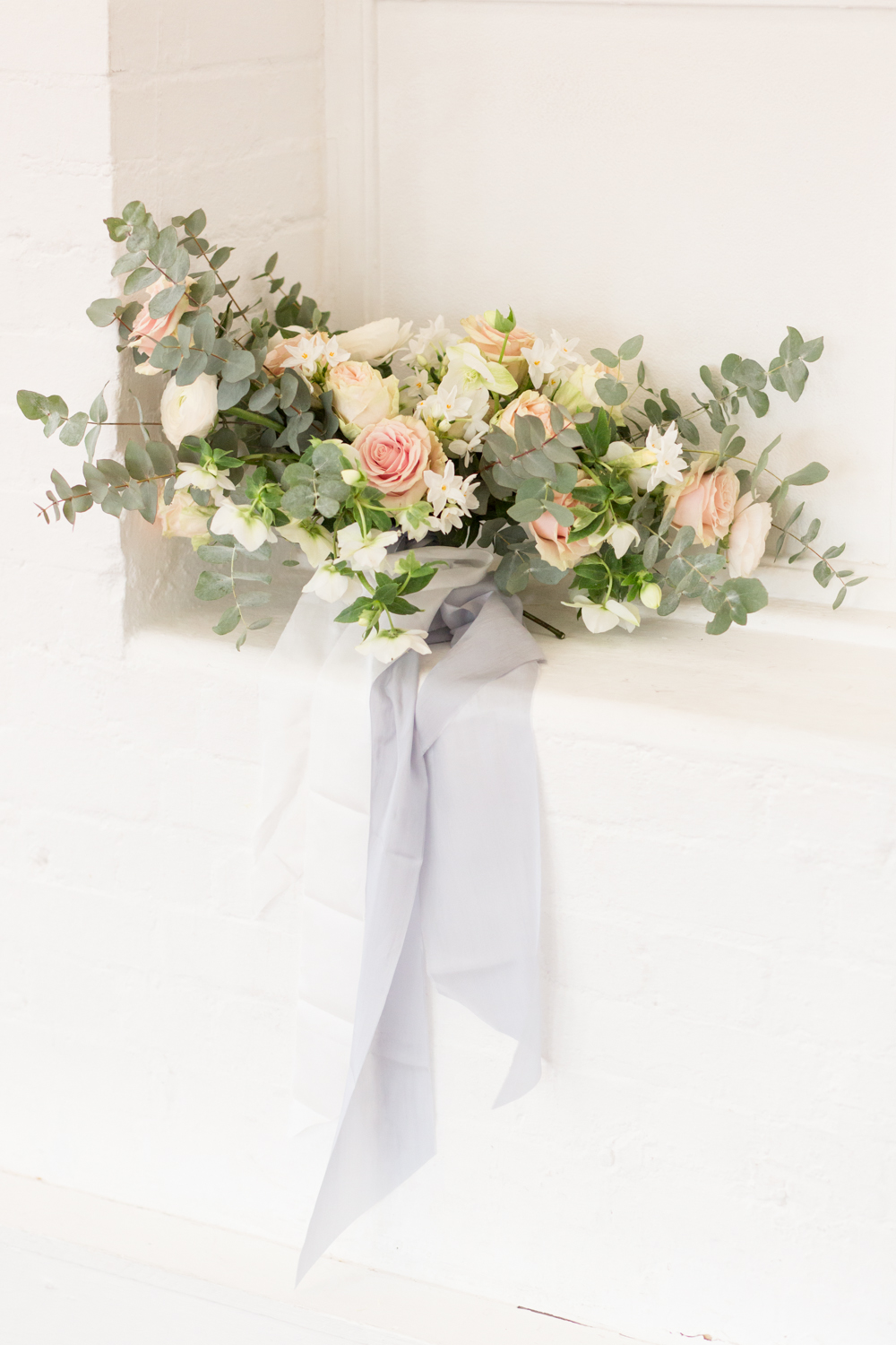 The Timeless Stylist-UK Wedding Styling-Elegant and Romantic Style Boudoir Shoot-Wedding Bouquet