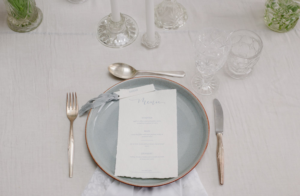 The Timeless Stylist-UK Wedding Design and Styling-Simple and Elegant Wedding Tablescape Inspiration-Blue and White