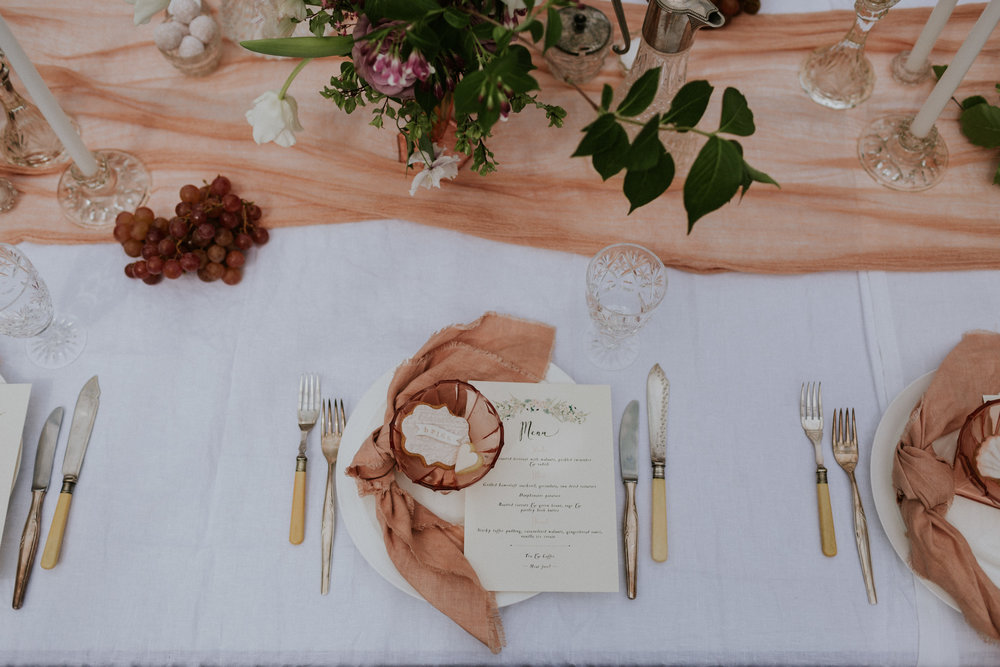 The Timeless Stylist - Simple Wedding Tablescape - Vintage Cutlery