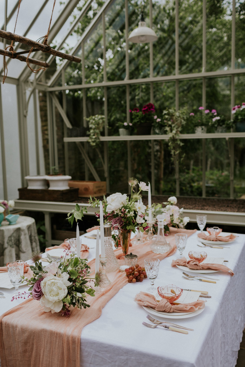 The Timeless Stylist - Greenhouse Wedding Shoot - Wedding Styling UK