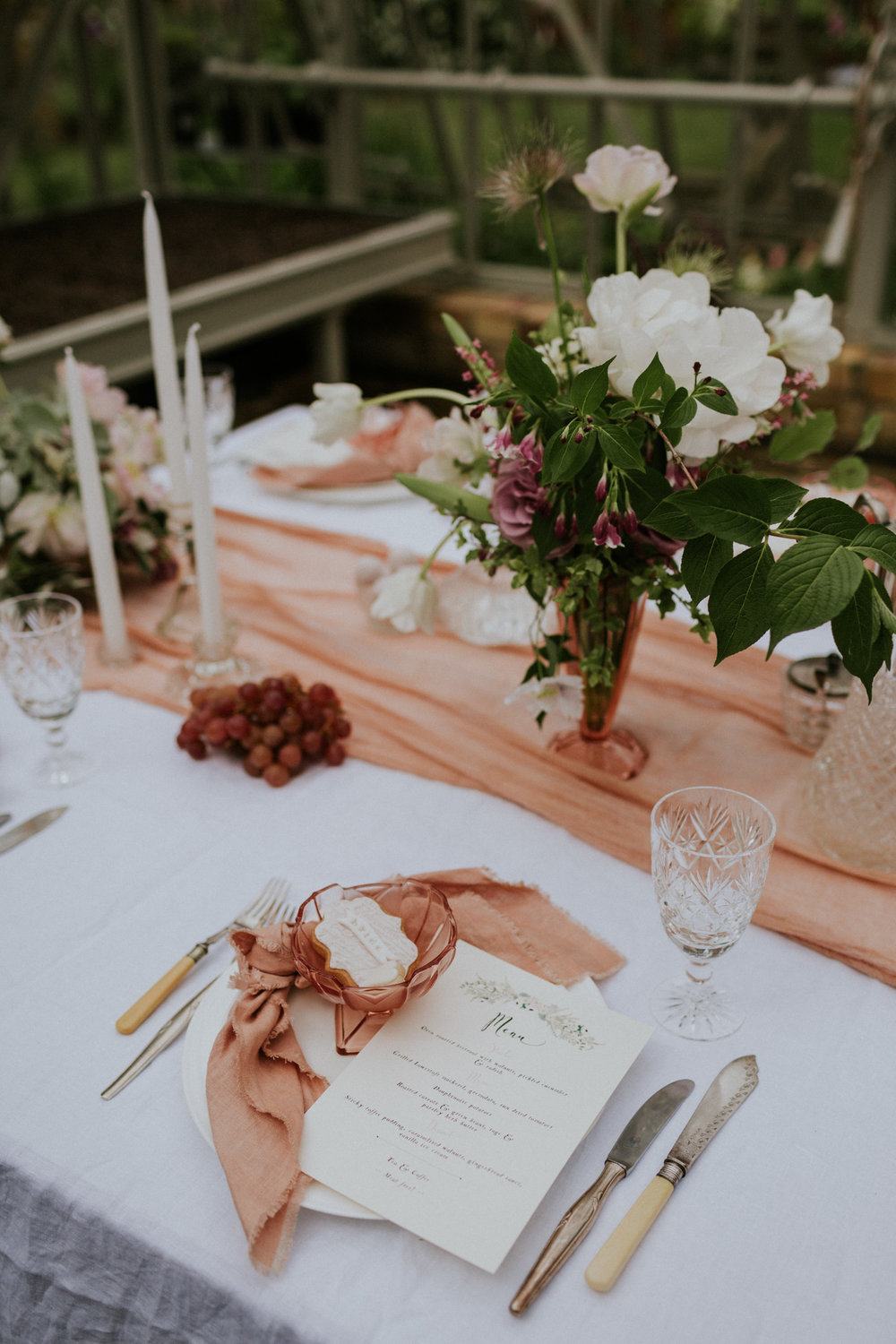 The Timeless Stylist - Simple Wedding Place Setting - Vintage Hiring